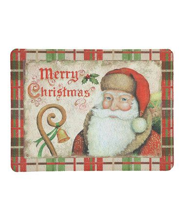 Take a look at this Santa Vintage Doormat by Mohawk Home on #zulily today!