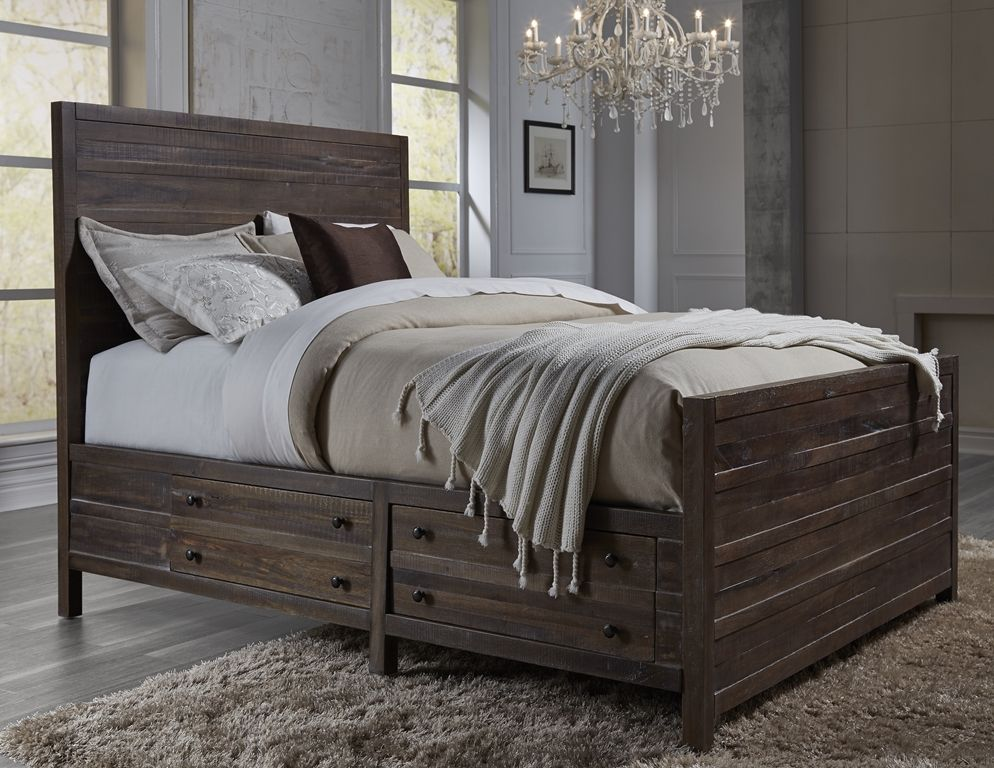 The Townsend Storage Bed, By Modus Furniture #solidwood #rustic #storagebed  #modusfurn