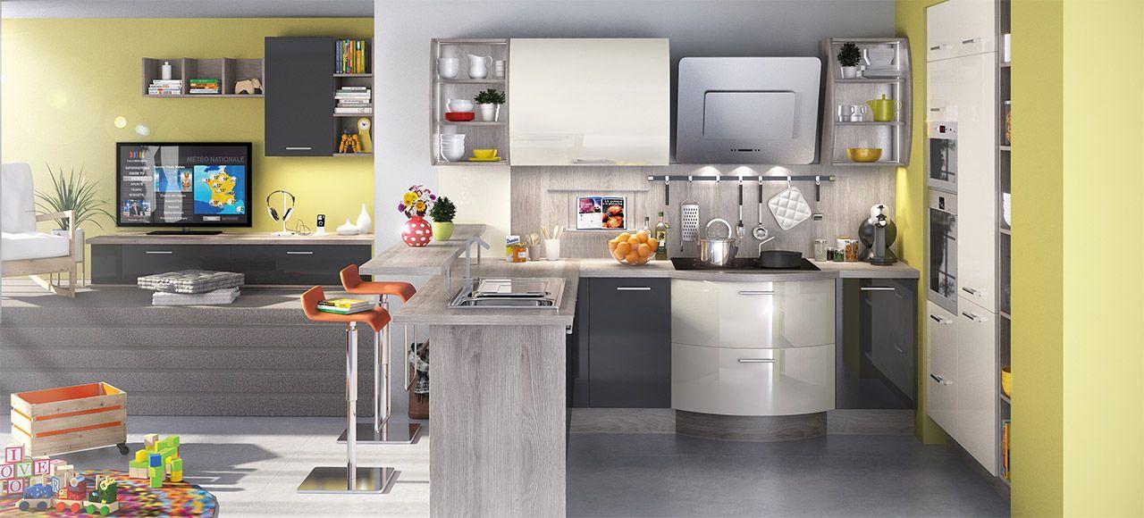 Une cuisine pratique et astucieuse Dans cette petite cuisine en U