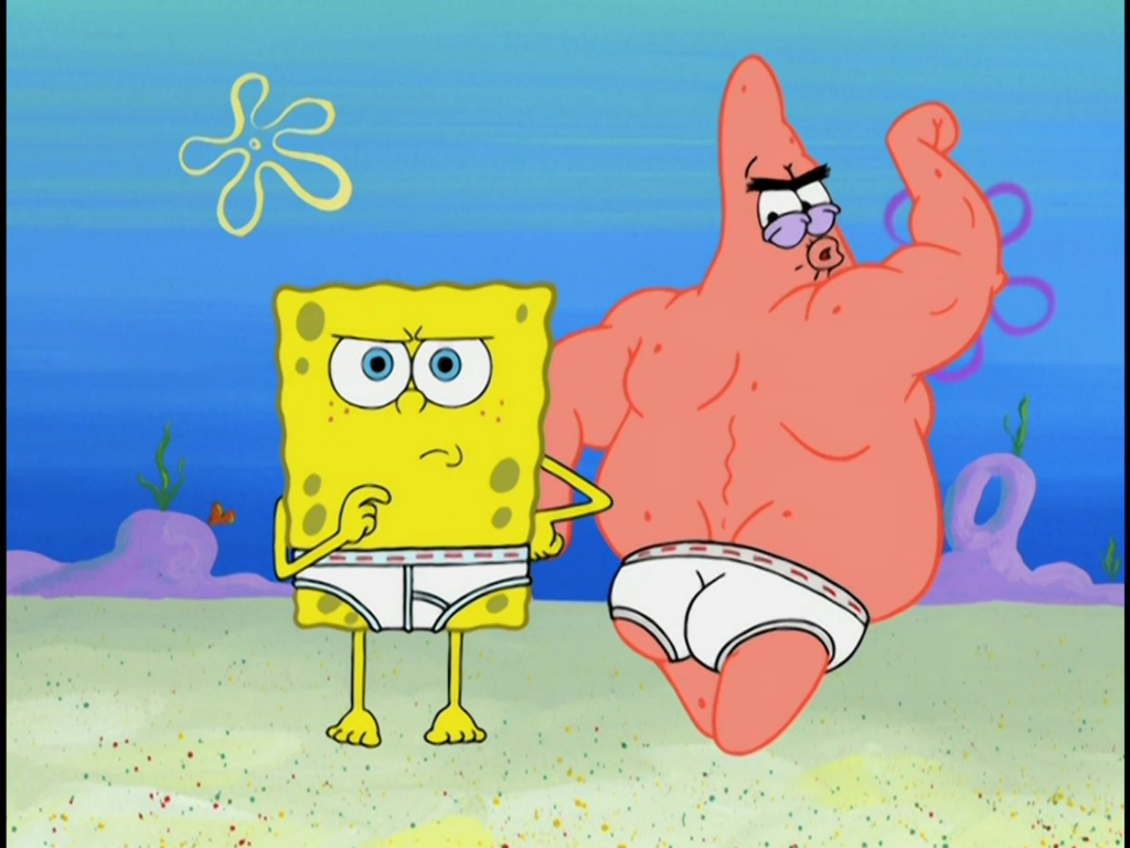 When You Flirt A Little Too Aggressively With Someone And Leave Absolutely Nothing To The Imagination Spongebob Funny Patrick Star Spongebob