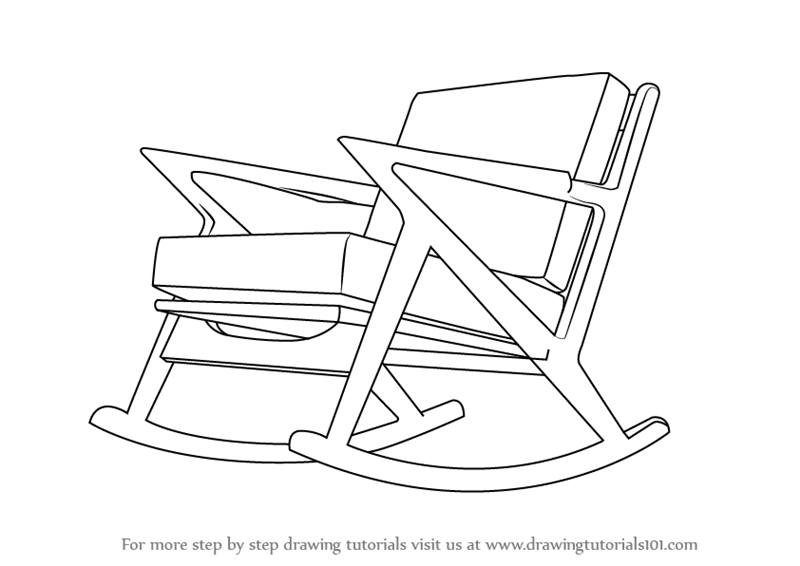 A Rocking Chair Is Another Optional Chair Found At Our Homes Equally Easy To Draw Here It Is In Quick Easy Steps Chair Drawing Rocking Chair Chair