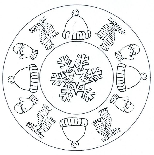 Mandala Sapka Sál Hópehely Középpel Kış Pinterest Kış