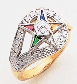 Eastern Star Jewelry Eastern Star Ring 10k Eastern Star Jewelry Masonic Jewelry Eastern Star
