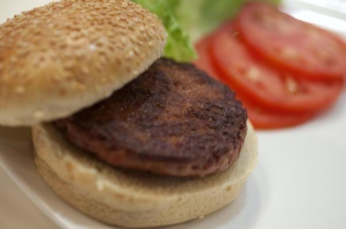 "YUKKKKKKKKKKKKKKKK  Lab-grown burger eaten in London Grown in-vitro from cattle stem cells at a cost of $332,000, food tasters declared it tasted ""close to meat""."