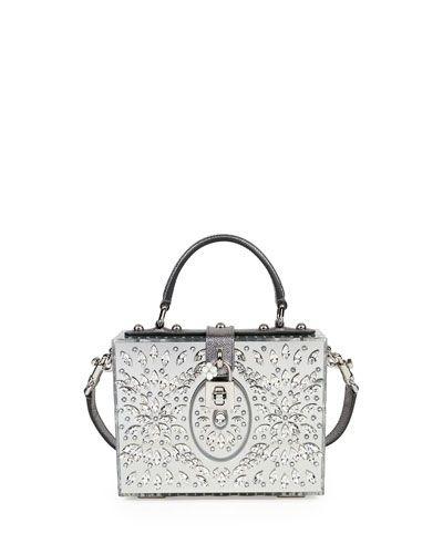 V31KY Dolce   Gabbana Dolce Box Medium Mirror Crystal Shoulder Bag ... c02b14bb230da