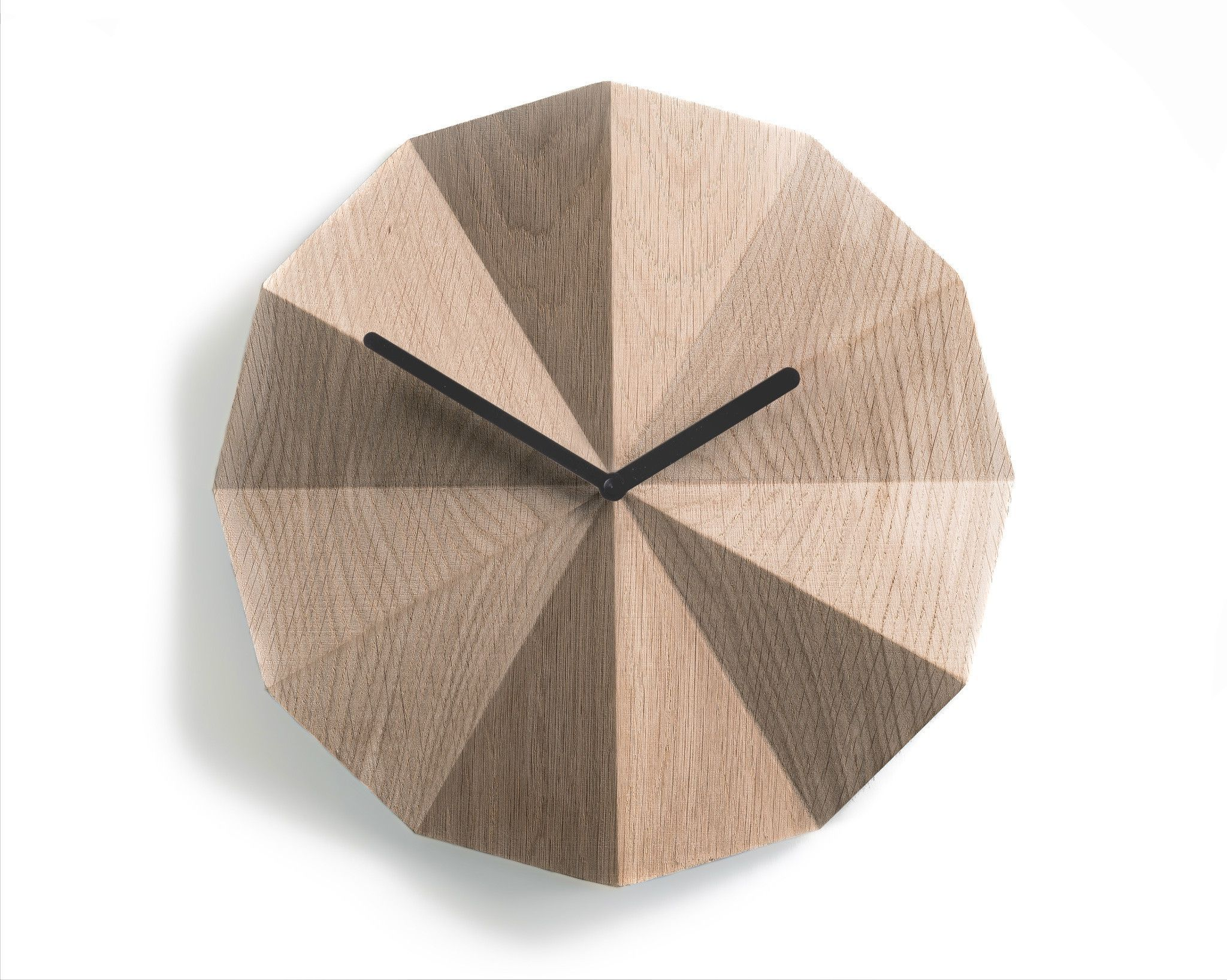 Delta Wall Clock By Lawa Design 11 Inch Solid Oak Wood Clock Wall Clock Wall Clock Modern