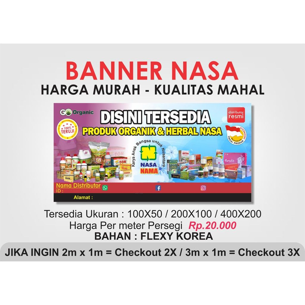 Banner Distributor Natural Nusantara Nasa Flexy Korea Sho Nasa Best Banner Design Banner