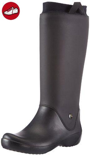 crocs Damen Rainfloebootie Gummistiefel, Schwarz (Black), 34-35 EU