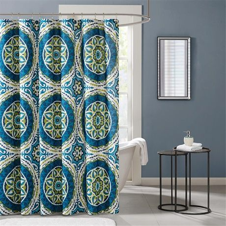 Serenity Printed Shower Curtain Madisonparkdreamspace Fabric