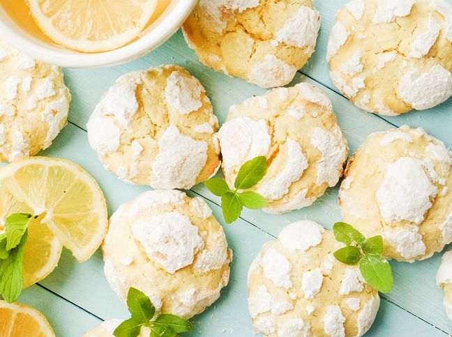 Sommer-Gebäck: Saftige Zitronen-Kekse #cookiesalad