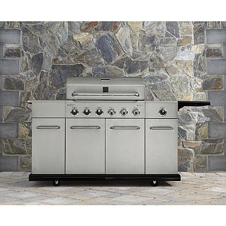 Amazon Com Kenmore 6 Burner Stainless Steel Gas Grill With Front Storage Build Outdoor Kitchen Gas Grill Kenmore Grill