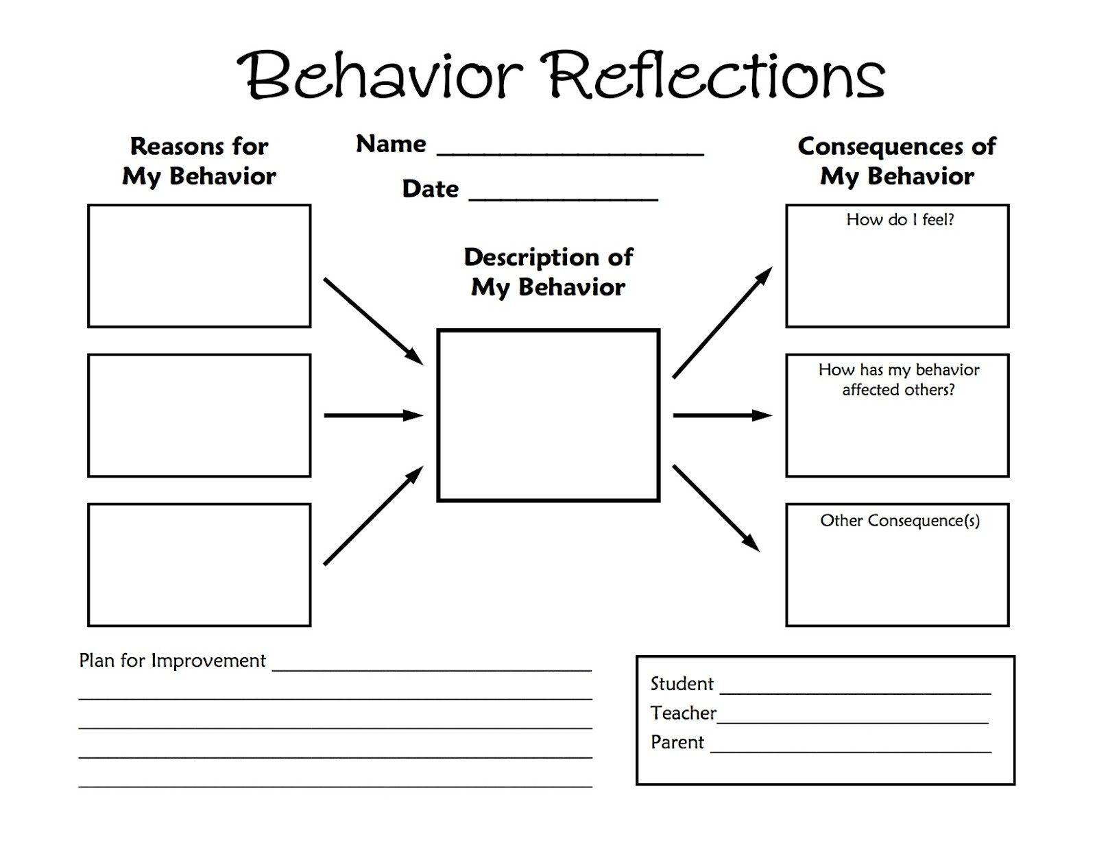 Worksheets Behavior Worksheets printable activity sheets for kids shelter this behavior reflections freebie is a great way to handle misbehavior in