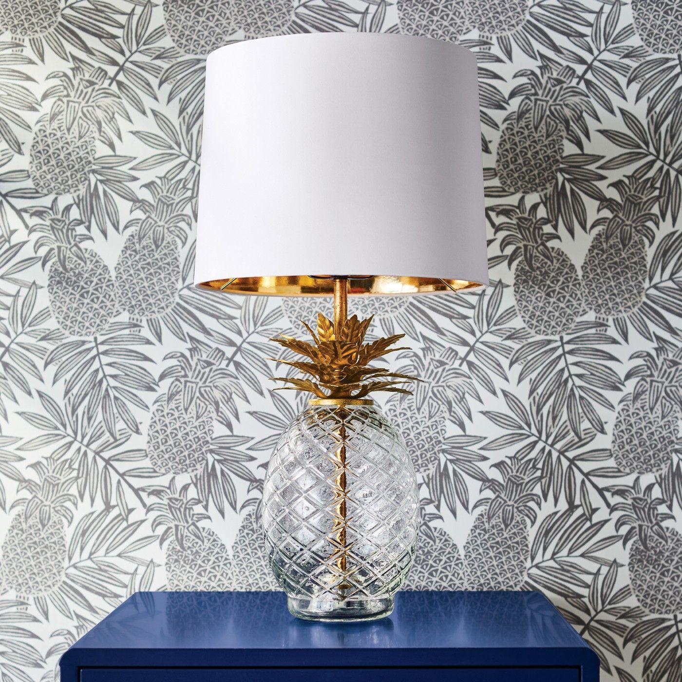 Pineapple Peel & Stick Removable Wallpaper Disco Brown