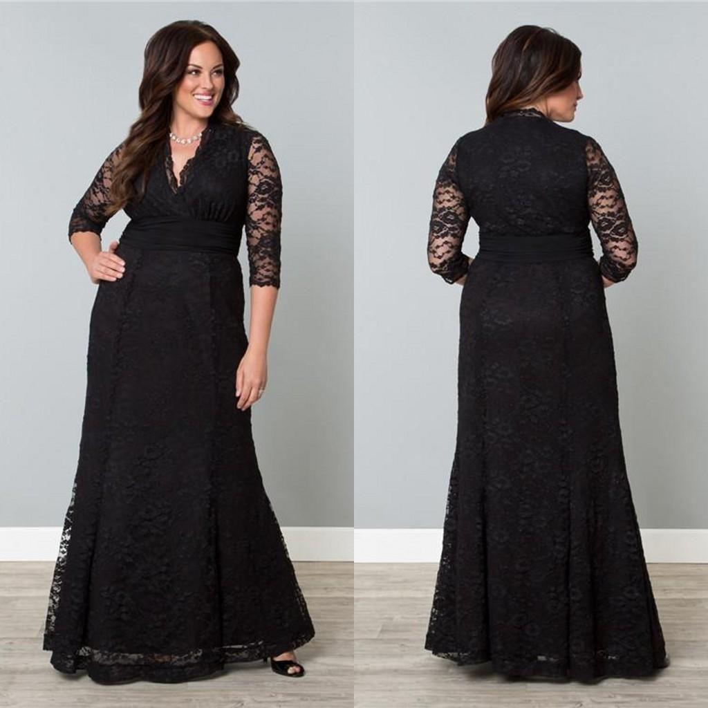Plus Size Eveing Dresses Winter 2014 Charming V Neck A Line Floor ...