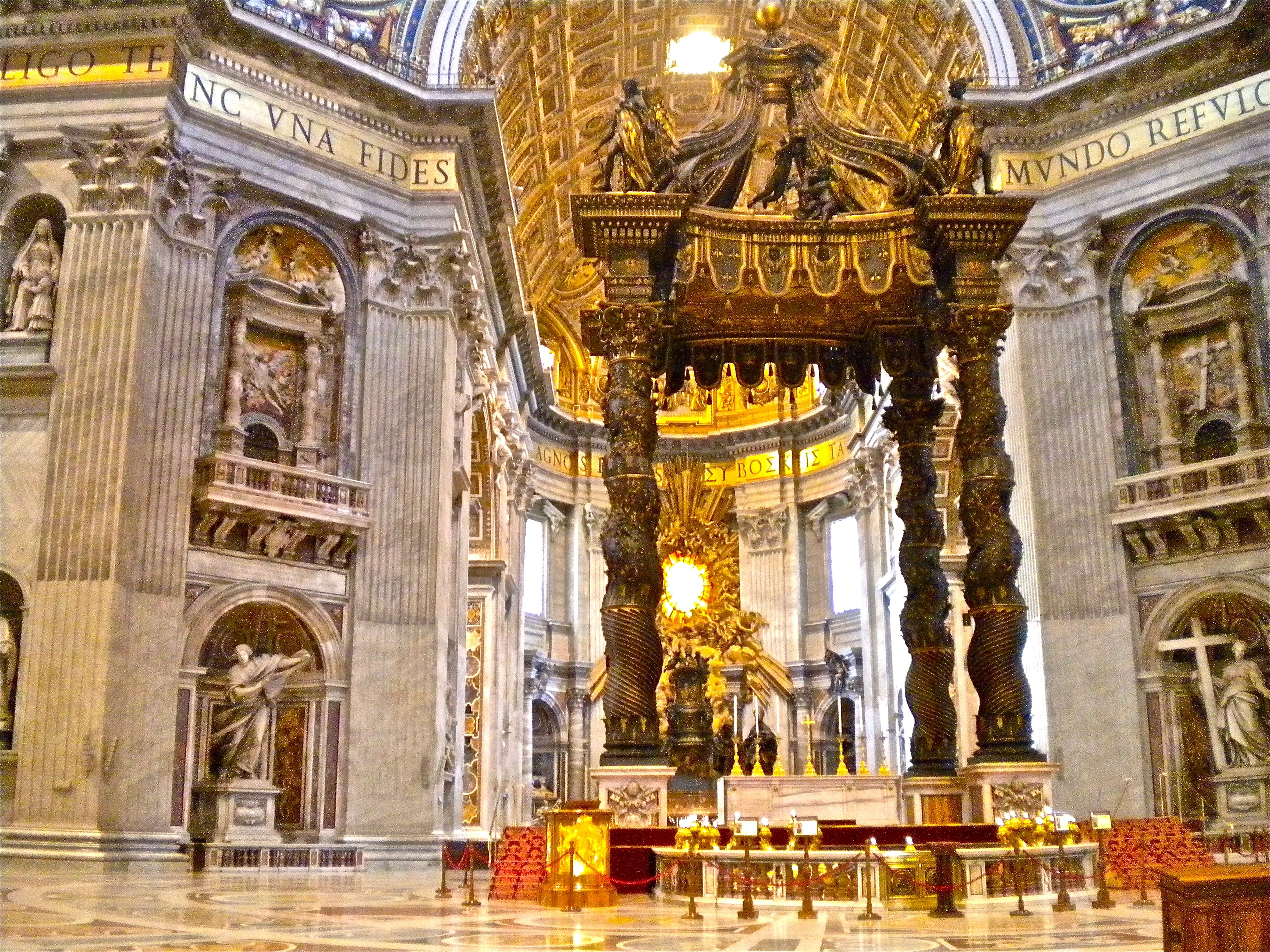 St. Peter's Baldachin (Italian baldacchino) is a large