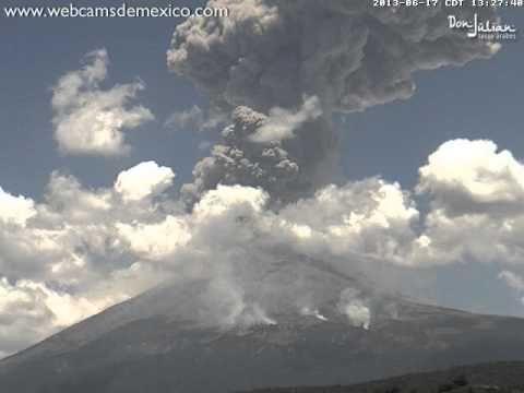 Popocatépetl explosión extraordinaria 17 junio 2013 1:23pm