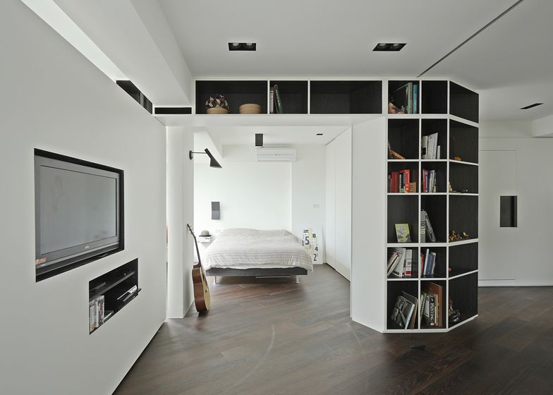 Studio Apartment Wall Partition Ideas resident tsao apartment with rotating wallskc studio