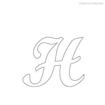 engraving letter templates - free printable alphabet stencils stencil letters h