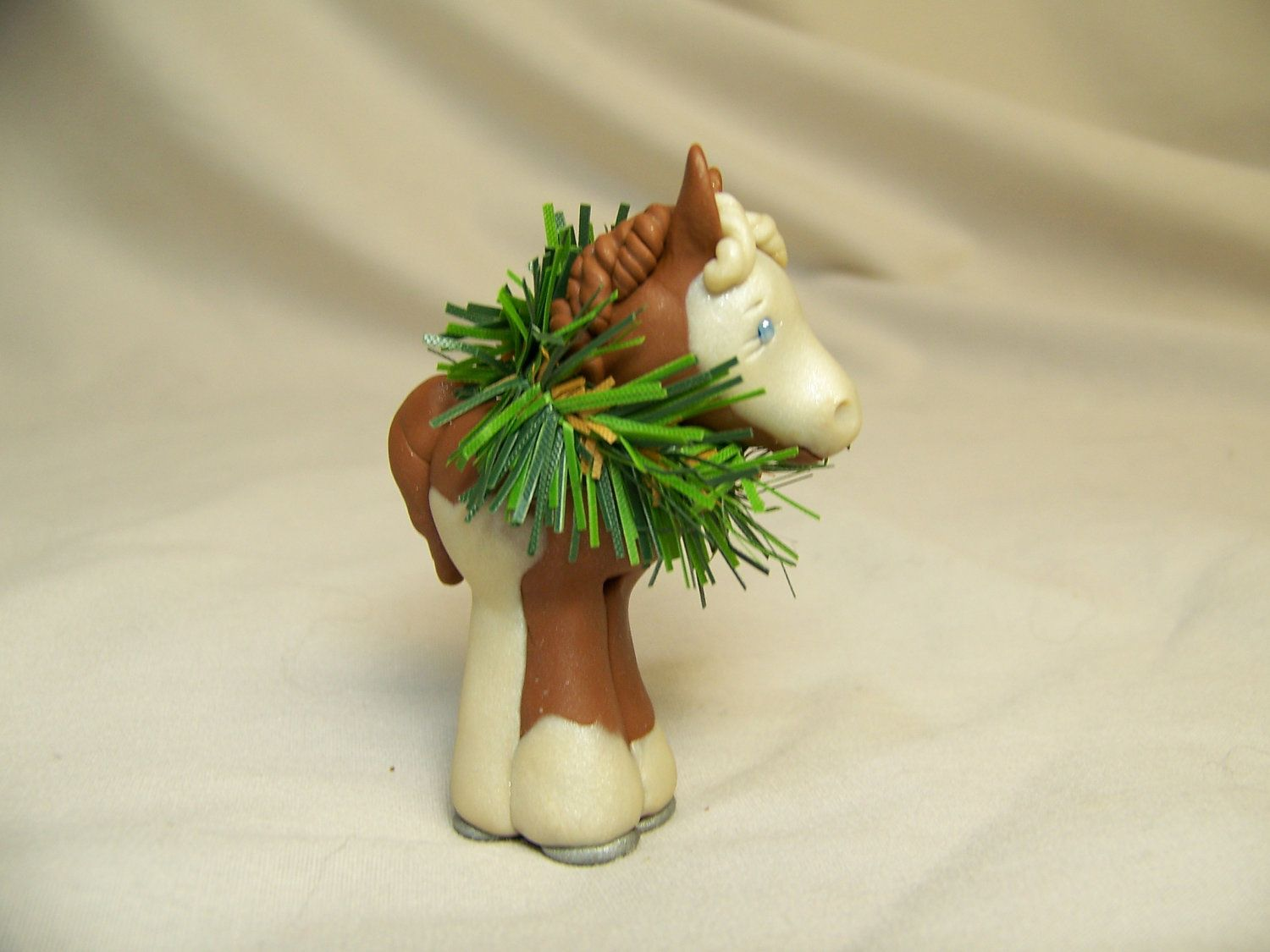 Handmade christmas ornaments on etsy - Handmade Christmas Ornament Polymer Clay Custom Horse Or Pony Or Donkey
