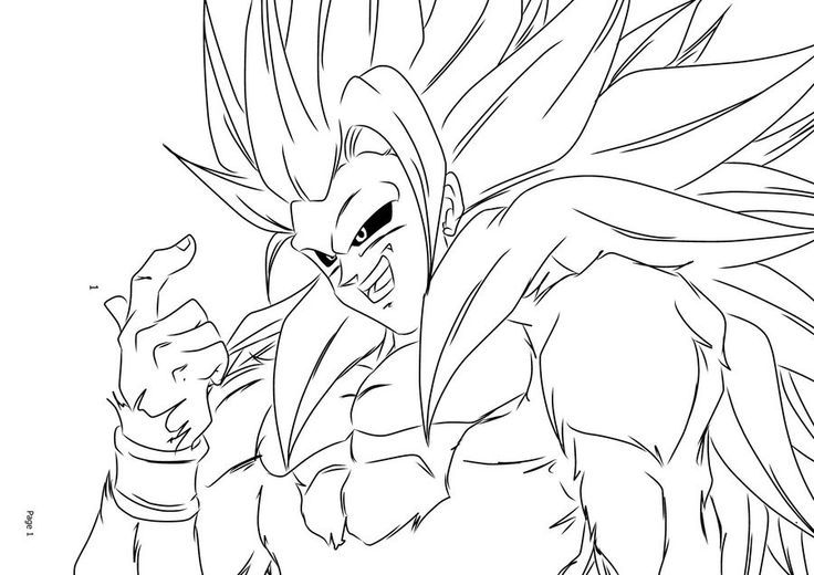 Super Saiyan Goku Coloring Pages | super saiyan goku coloring pages ...