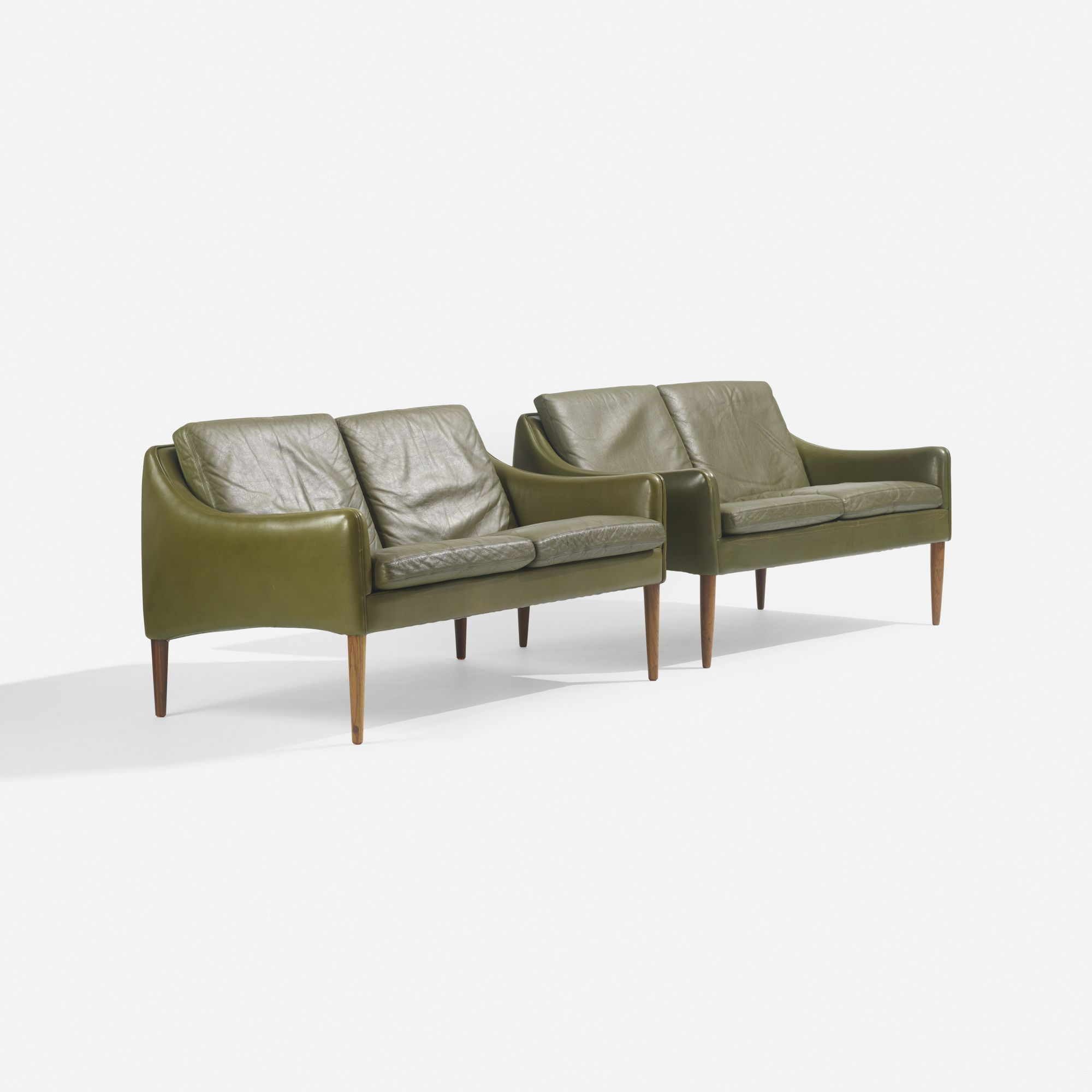 1960s danish green leather sofa by skipper furniture vintage