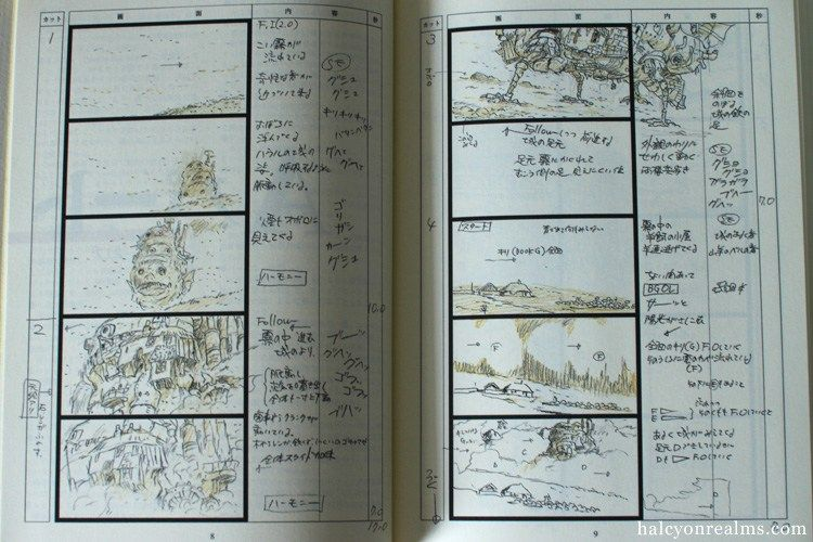 Howl's Moving Castle Storyboard Book Review