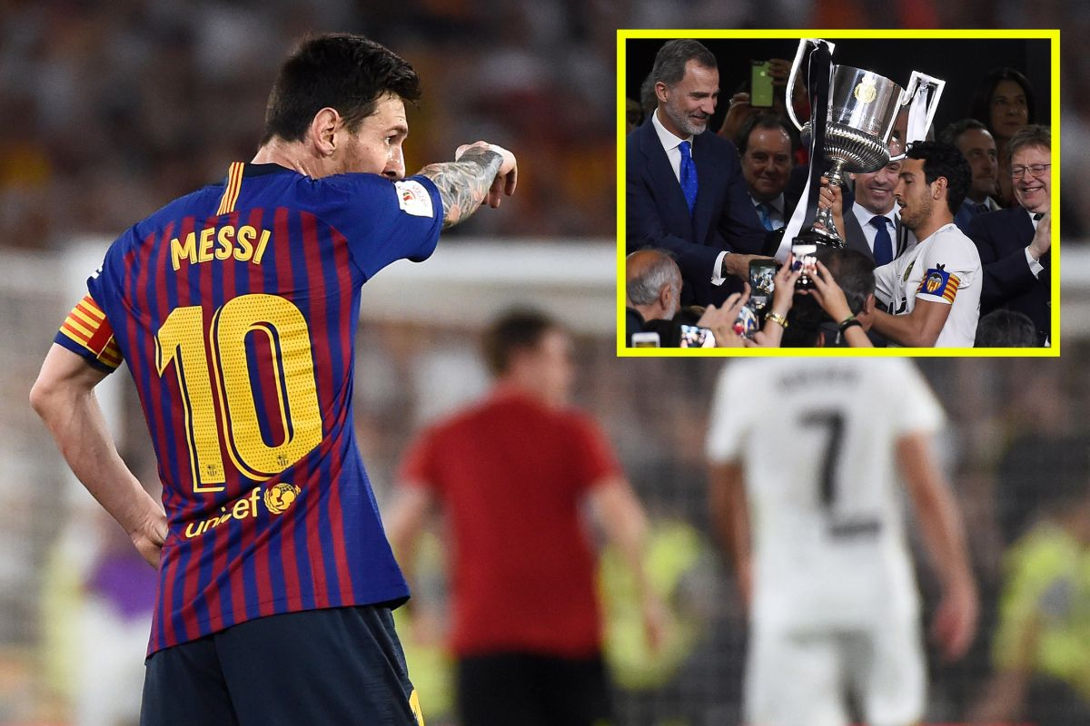 Lionel messi goal not enough as barca are beaten in copa