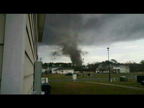 Incredible Tornado in Fort Stewart, GA Feb 3, 2016