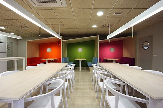 Office Tour YMedia Offices \u2013 Madrid Lights, Interiors and Spaces