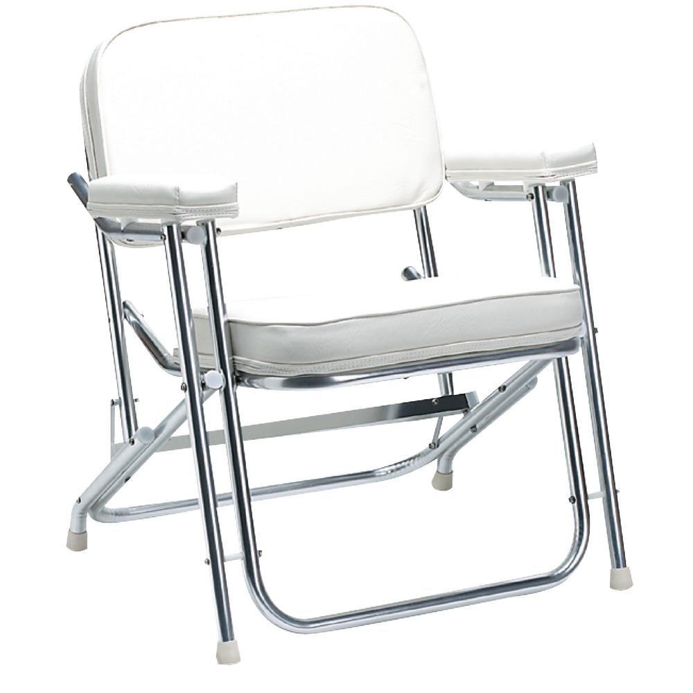 Seachoice White Folding Deck Chair Deck Chairs Portable High
