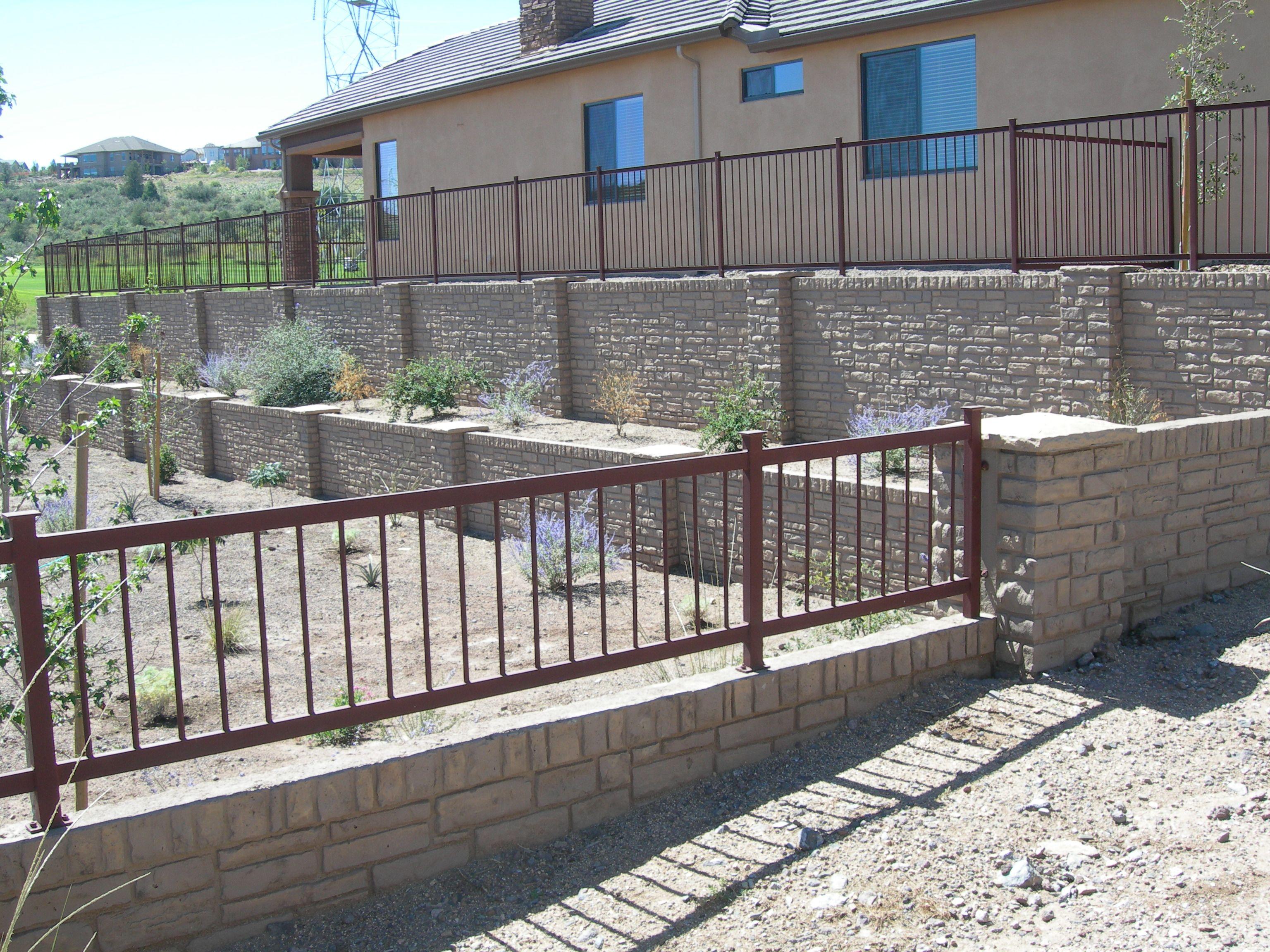 Retaining Walls Beautiful Precast Panels Engineered For Landscaping Fence Design Retaining Wall Wall Railing
