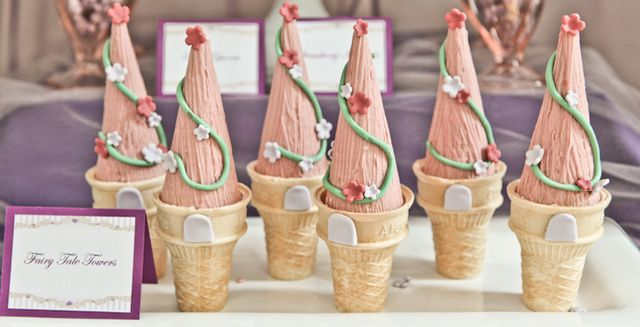Fairy Tale Towers for a Princess Party #princessparty #fairytale