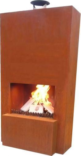 Terrassen Kamin / Terassen Heizung: Original Feuerstelle Pinacate Corten  (Edelrost),