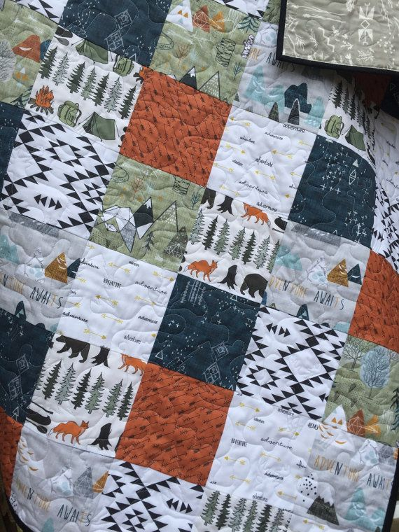 Adventure Awaits Nursery Bedding Bears Baby By Tinroofquilters Baby