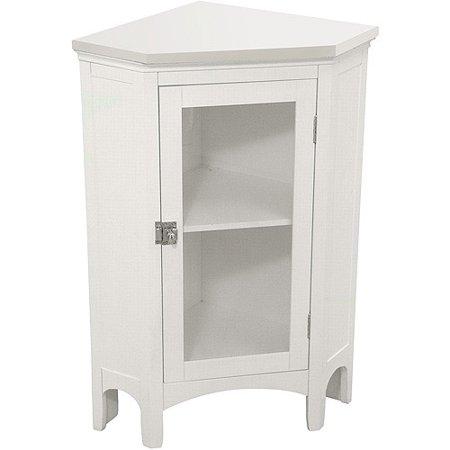 Classy Collection Corner Floor Cabinet White Walmart Com