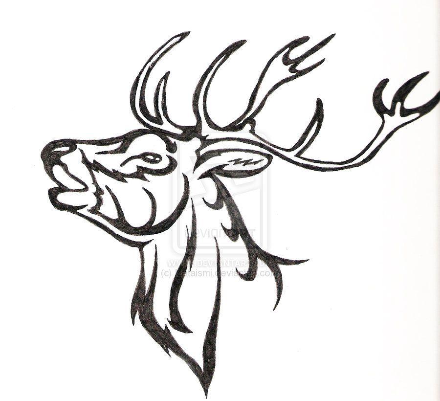 Tribal Deer Painting by crochetamommy on DeviantArt