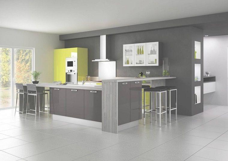 cucine-ad-angolo-moderne-grigie-dettagli-gialli ...