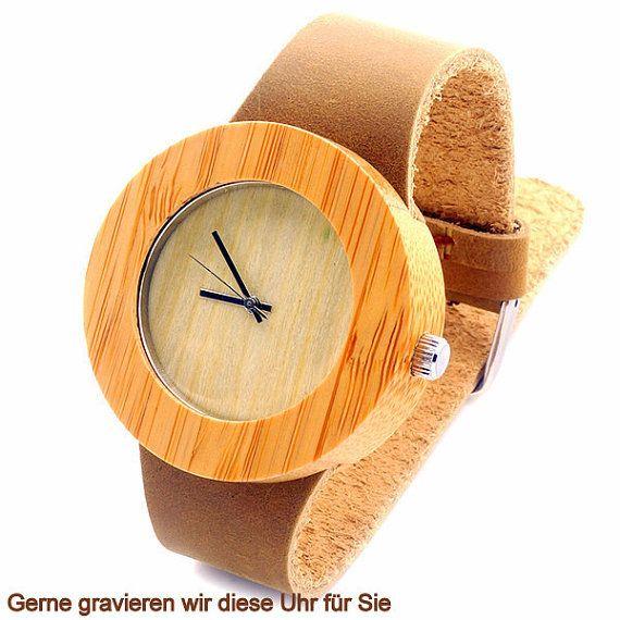 sportliche Damen Uhr in Holz mit rustikalem von pinkmagnolia2303