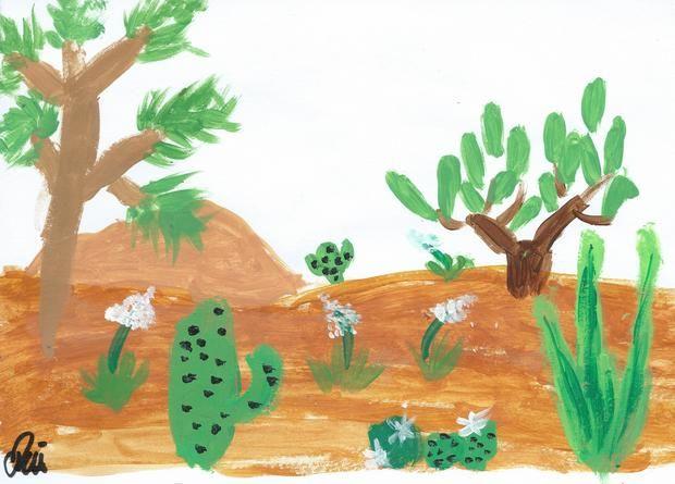 cactus painting illustration