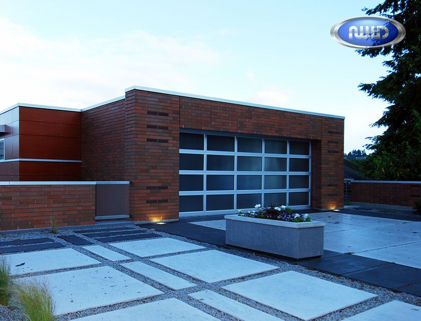 Modern Classic Mc45 Clear Anodized Finish Obscure Glass Garage Doors Glass Garage Door Modern Classic Aluminum Garage