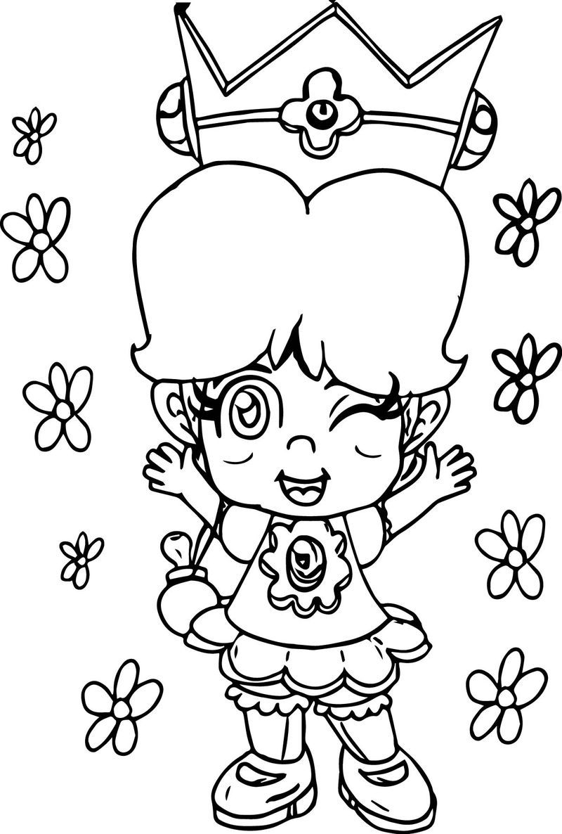 Baby Daisy Flower Coloring Page Flower coloring pages