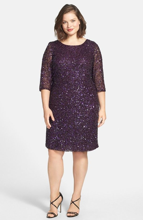 Pisarro Nights Draped Back Beaded Dress (Plus Size) | elbise | Pinterest