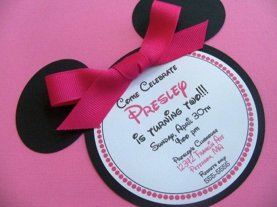Minnie Mouse Birthday Party Invitations Mickey Magic Minnie