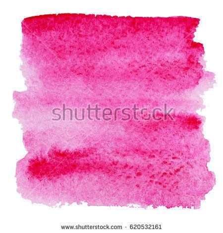 Pink Watercolor Splash Vector Brush Stroke Isolated On White