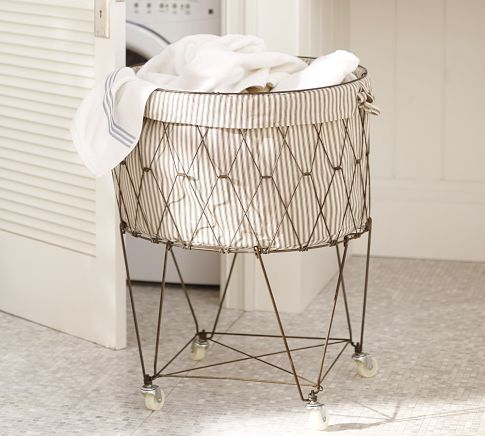 French Wire Hamper & Liner | Pottery Barn