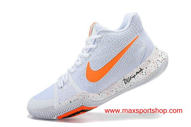 ce500893a823 Nike Kyrie 3 iD White Orange Signature Version Men s Basketball Shoes