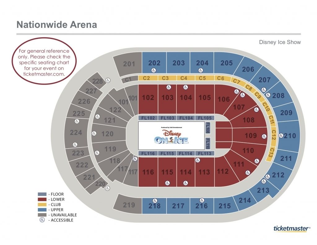 Seating Charts Nationwide Arena For Cbj Seating Chart