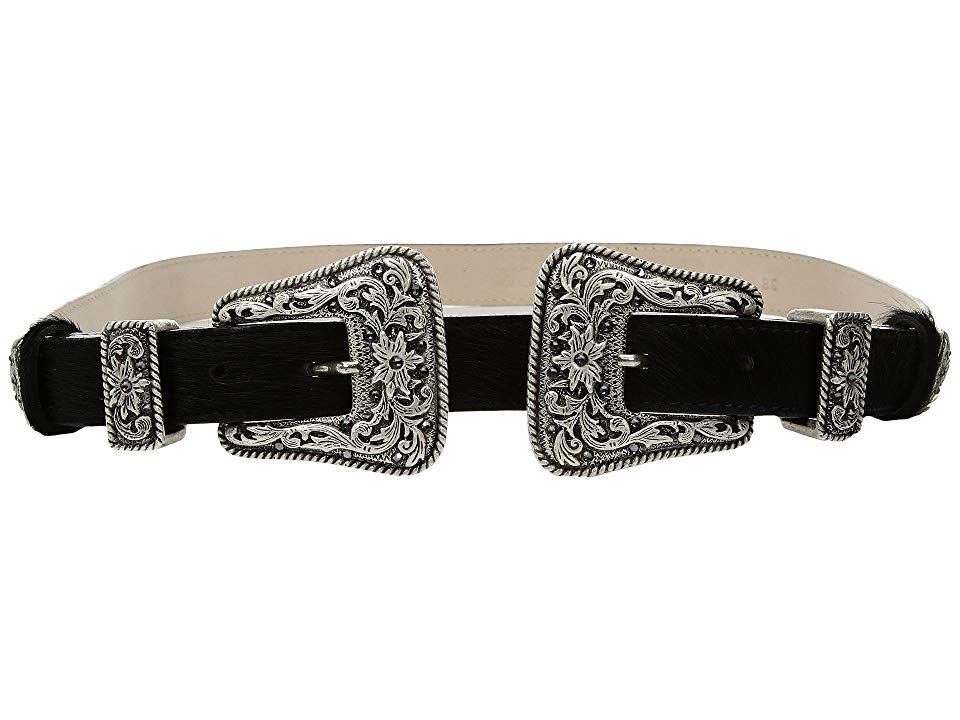 Leatherock 1689 Black Womens Belts The Leatherock 1689 belt has a standout style that is sure to enhance any outfit Crackled leather belt floraltooled metal belt loops Tw...