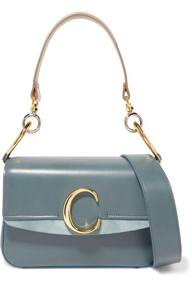 ae0d16d4 Chloé - Chloé C small suede-trimmed leather shoulder bag in 2019 ...