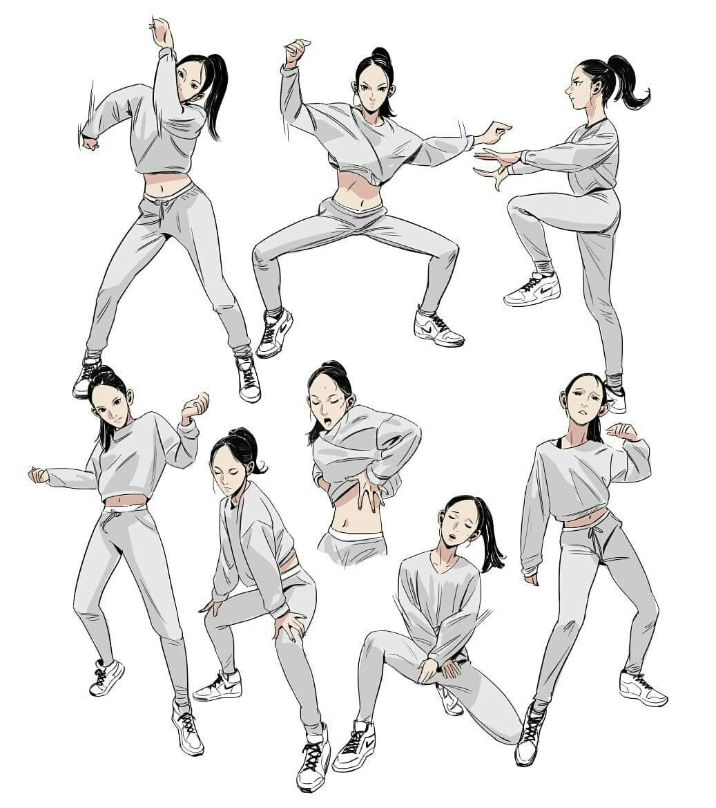 It is a graphic of Zany Balllroom Dancing Refrence Drawing